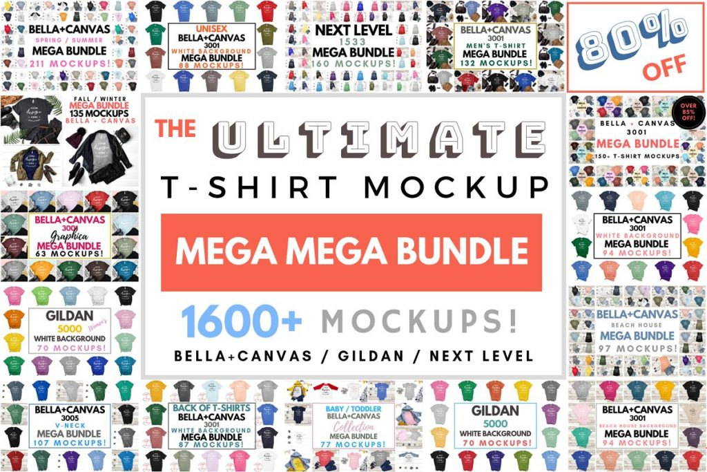 Ultimate T-Shirt Mockup Mega Bundle