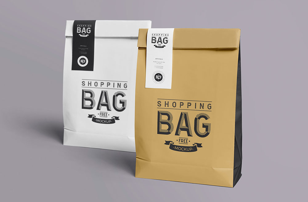 Paper Bag Mockup Free Branding Collection