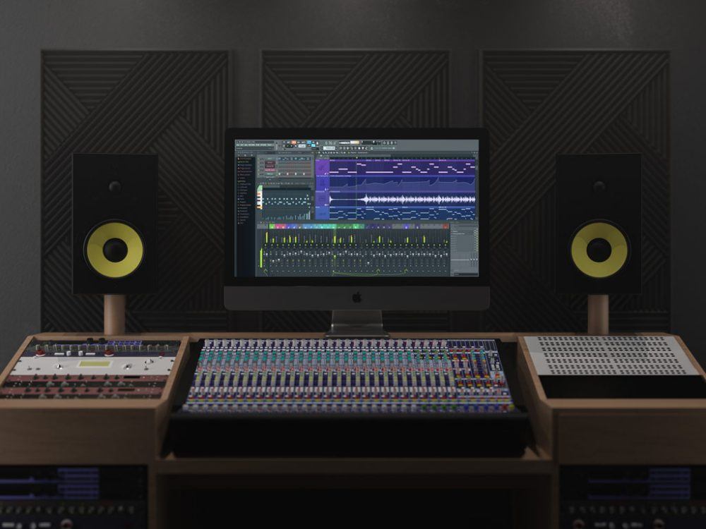 Music Studio With iMac Pro Mockup
