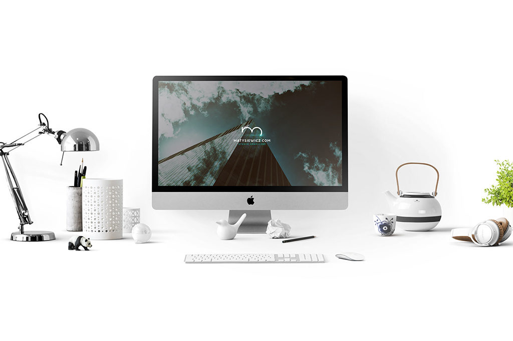 Collection of iMac With Macbook Mockup
