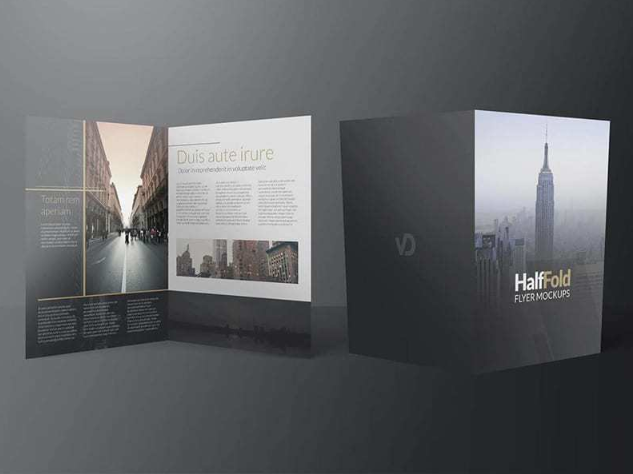 Half-Hold Flyer Free Template