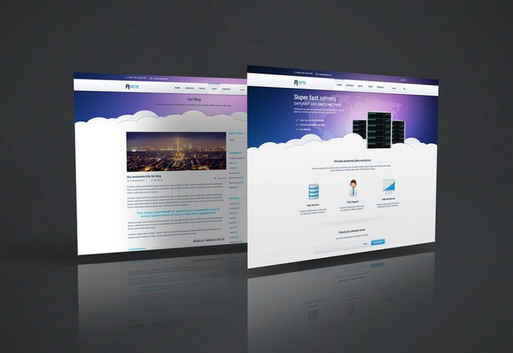 Realistic Website PSD Mockup