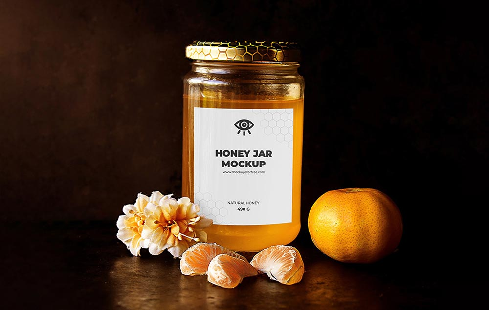 Classic Honey Jar Mockup