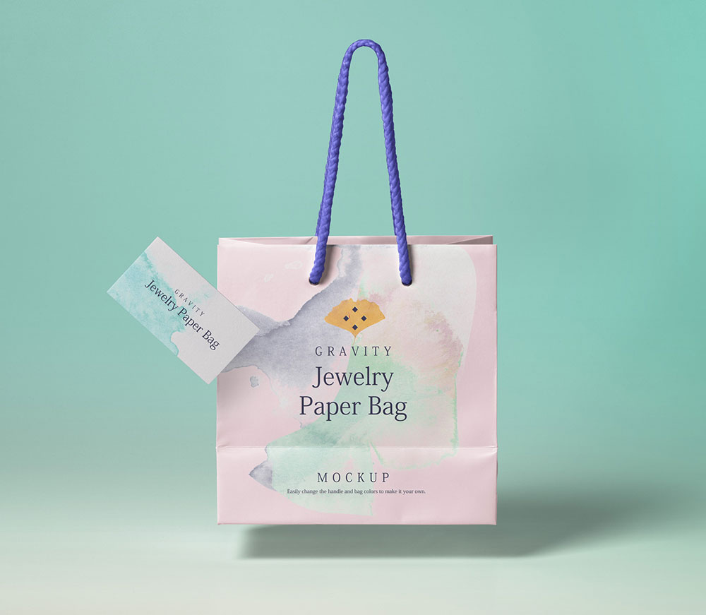 Nice Paper Bag With A card Template