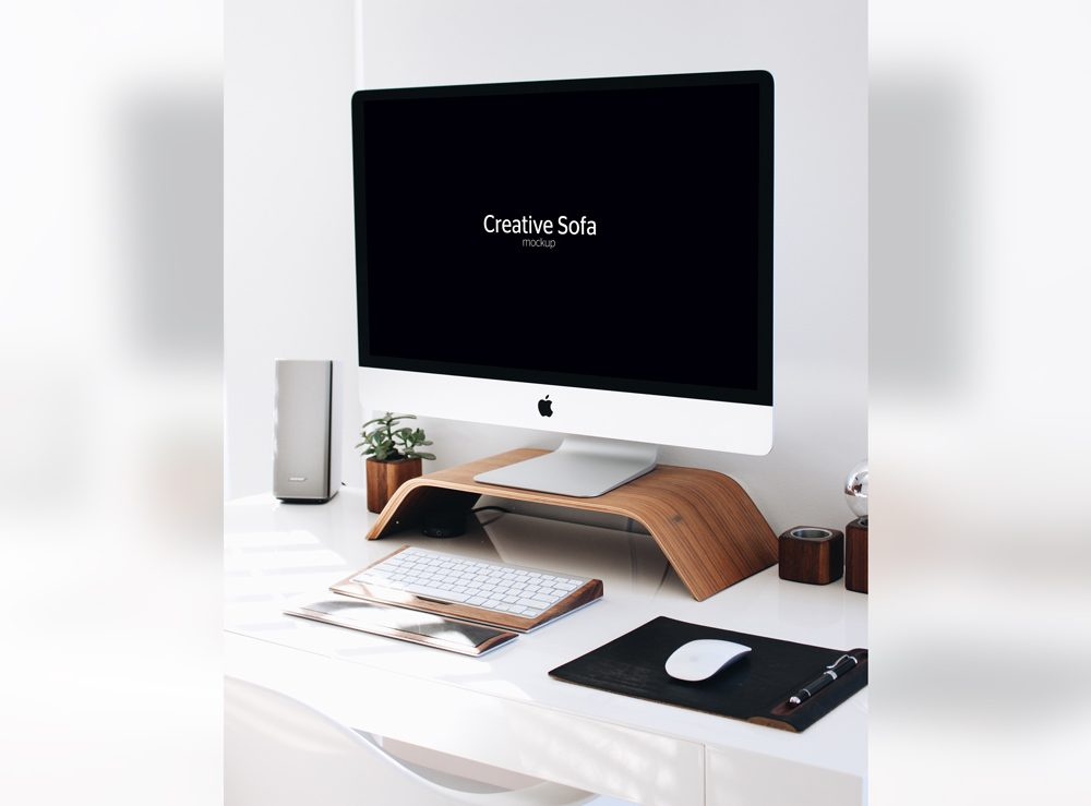 Freebie Classic Office With iMac Mockup