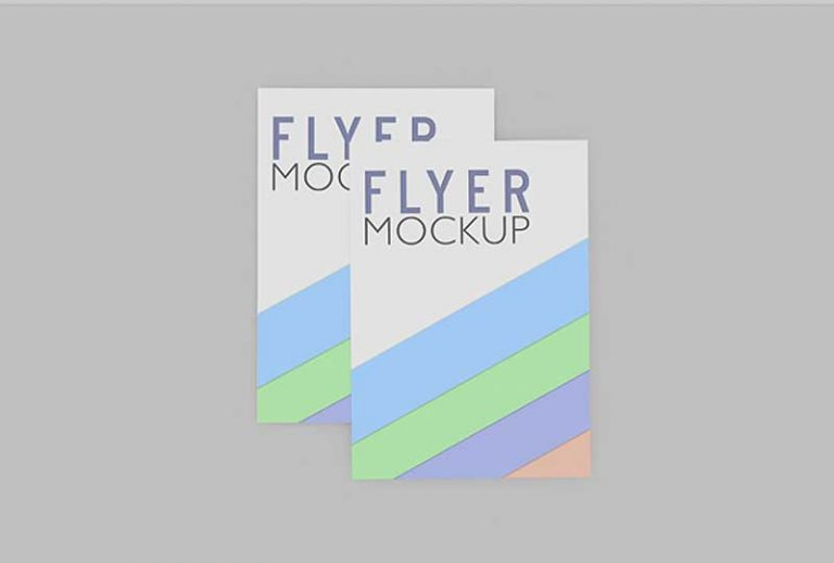 Variation of Flyer Mockups PSD