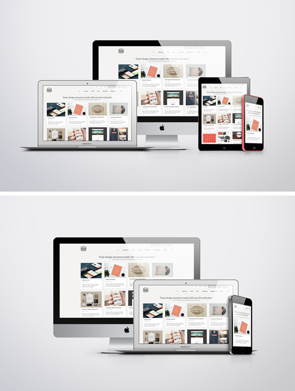Apple Screen Mockup For Website Showcasing