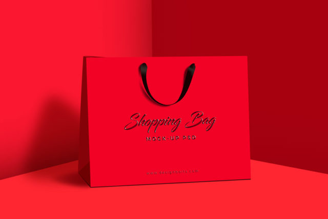 Fashionable Shopping Bag Mockup