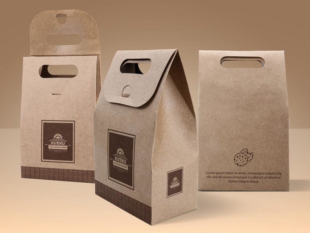 Free Cookie Paper Bag Set Mockup