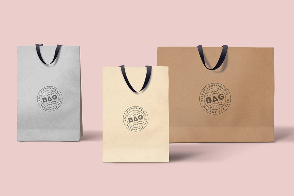 Freebie Set of Shopping Paper Bags