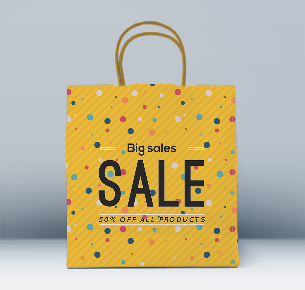 Fashionable Paper Bag Mockup