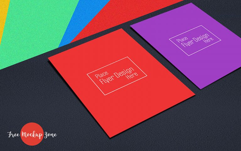 Colorful Flyer Mockup Free