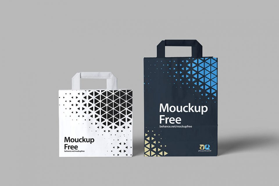Freebie Paper Bag Mockup PSD