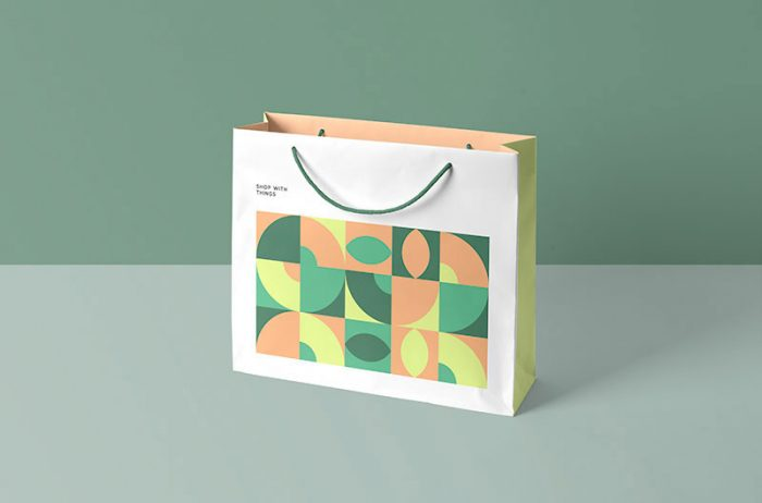 Casual Paper Shopping Bag Mockup