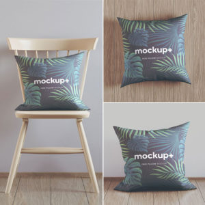 Free Pillow Mockup Set
