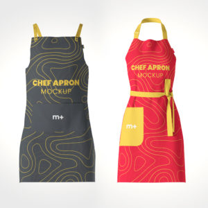 Free Chef Kitchen Apron Mockup
