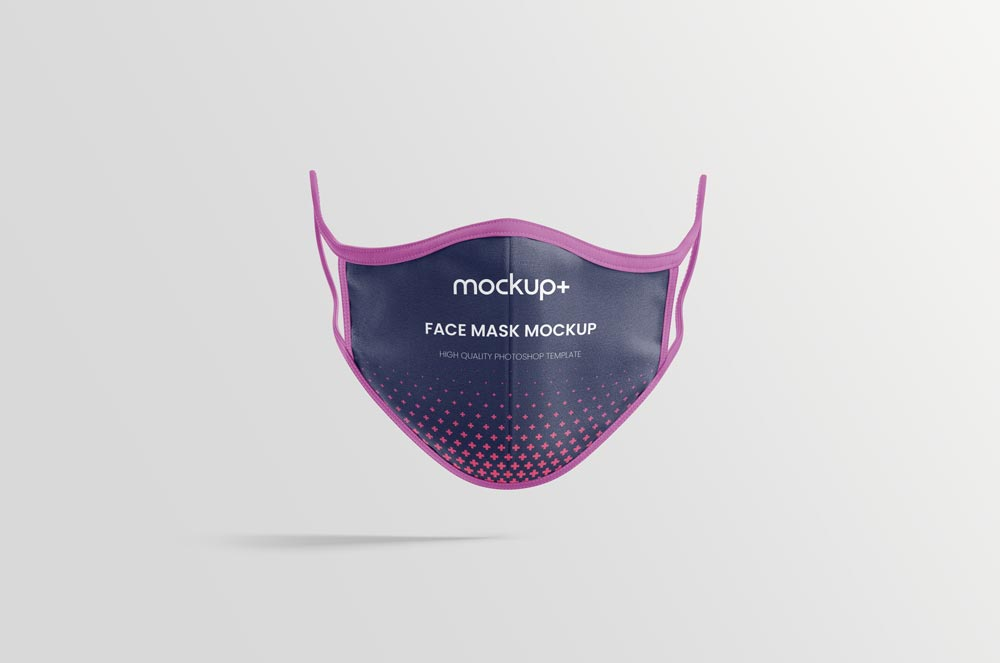 Fabric Face Mask Mockup Free PSD